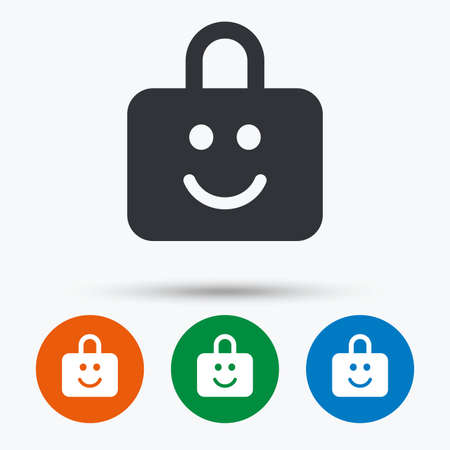 child protection: Child lock icon. Locker with smile symbol. Child protection. Round circle buttons with icon. Vector Illustration