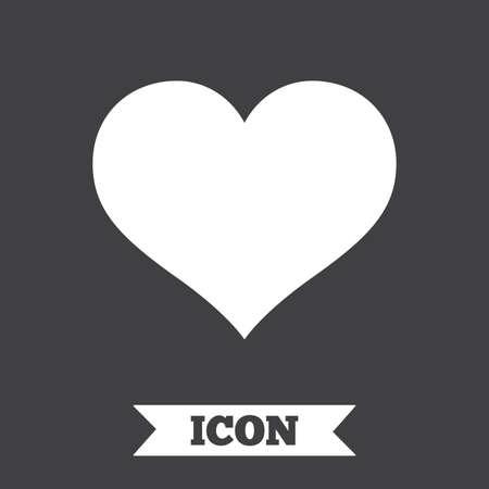 heart symbol: Love icon. Heart sign symbol. Graphic design element. Flat heart symbol on dark background. Vector