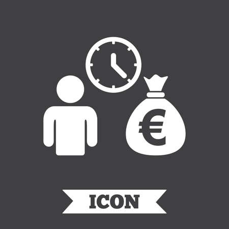 loans: Bank loans sign icon. Get money fast symbol. Borrow money. Graphic design element. Flat bank loans symbol on dark background. Vector