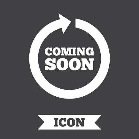 Coming Soon Sign Icon Promotion Announcement Symbol Graphic