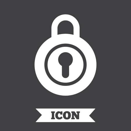 locker: Lock sign icon. Locker symbol. Graphic design element. Flat locker symbol on dark background. Vector