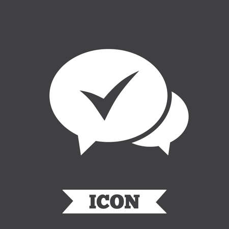 Check Sign Icon Yes Or Tick Symbol Confirm Graphic Design