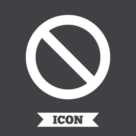 blacklist: Blacklist sign icon. User not allowed symbol. Graphic design element. Flat blacklist symbol on dark background. Vector
