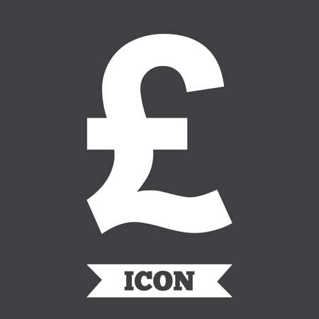 Pound Sign Icon Gbp Currency Symbol Money Label Graphic Design