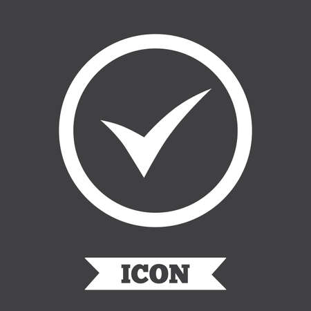 Check Mark Sign Icon Yes Circle Symbol Confirm Approved Graphic
