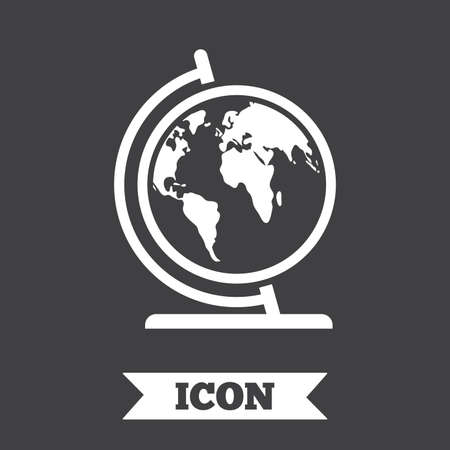 Globe sign icon world map geography symbol globe on stand for world map geography symbol globe on stand for studying graphic gumiabroncs Choice Image