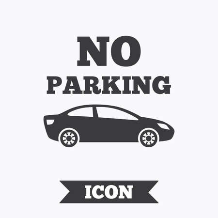 no parking sign: No parking sign icon. Private territory symbol. Graphic design element. Flat no parking symbol on white background. Vector