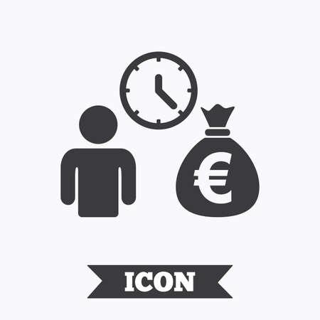 loans: Bank loans sign icon. Get money fast symbol. Borrow money. Graphic design element. Flat bank loans symbol on white background. Vector Illustration