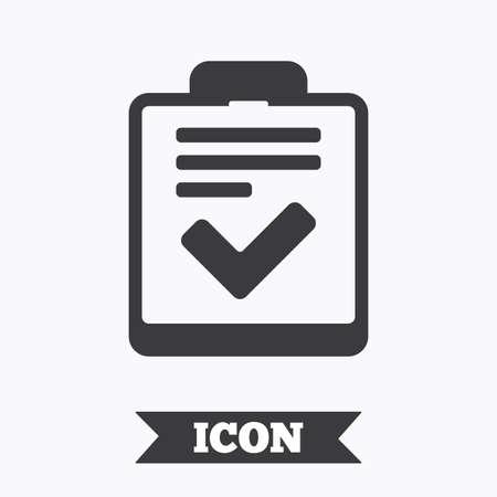 feedback form: Checklist sign icon. Control list symbol. Survey poll or questionnaire feedback form. Graphic design element. Flat checklist symbol on white background. Vector
