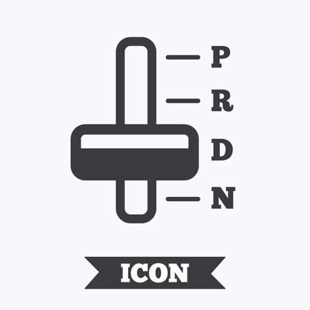 automatic transmission: Automatic transmission sign icon. Auto car control symbol. Graphic design element. Flat transmission symbol on white background. Vector