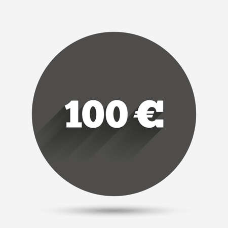 20 Euro Sign Icon Eur Currency Symbol Money Label Circle Flat