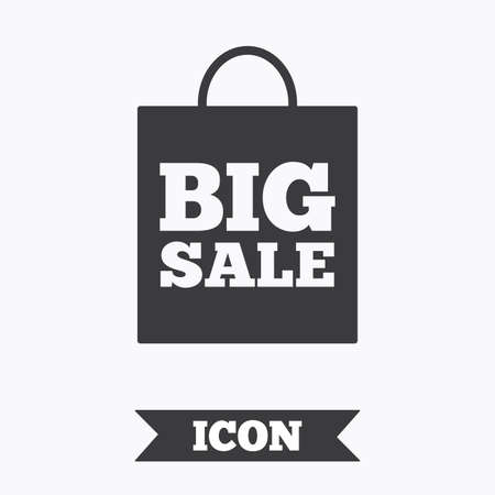 special price: Big sale bag sign icon. Special offer symbol. Graphic design element. Flat big sale symbol on white background. Vector