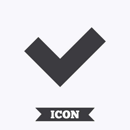 yes button: Check sign icon. Yes button. Graphic design element. Flat check symbol on white background. Vector