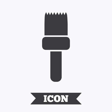 flat brush: Paint brush sign icon. Artist symbol. Graphic design element. Flat brush symbol on white background. Vector