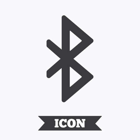 bluetooth: Bluetooth sign icon. Mobile network symbol. Data transfer. Graphic design element. Flat bluetooth symbol on white background. Vector