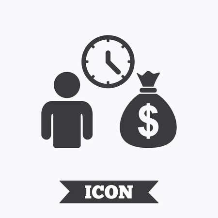 loans: Bank loans sign icon. Get money fast symbol. Borrow money. Graphic design element. Flat loans symbol on white background. Vector Illustration