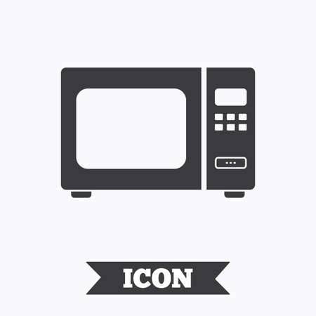 electric stove: Microwave oven sign icon. Kitchen electric stove symbol. Graphic design element. Flat microwave symbol on white background. Vector Illustration