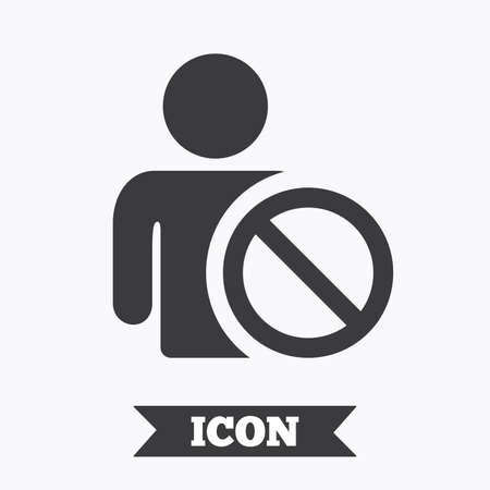 blacklist: Blacklist sign icon. User not allowed symbol. Graphic design element. Flat blacklist symbol on white background. Vector