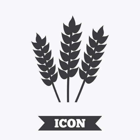 corn stalk: Agricultural sign icon. Gluten free or No gluten symbol. Graphic design element. Flat agriculture symbol on white background. Vector