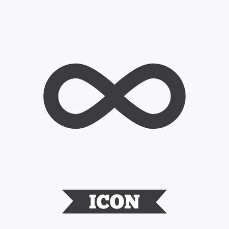 eternally: Limitless sign icon. Infinity symbol. Graphic design element. Flat limitless symbol on white background. Vector Illustration