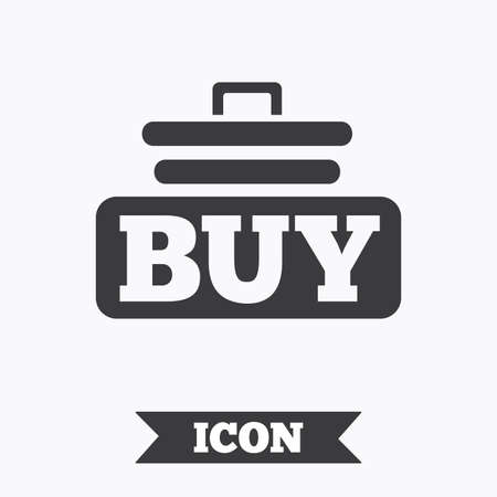 cart button: Buy sign icon. Online buying cart button. Graphic design element. Flat buy symbol on white background. Vector