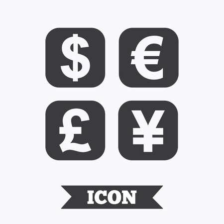 converter: Currency exchange sign icon. Currency converter symbol. Money label. Graphic design element. Flat currency exchange symbol on white background. Vector