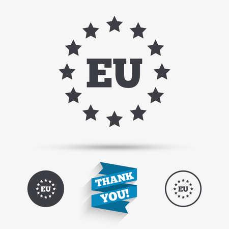 Hergestellt In EU-Symbol. Produktionssymbol Exportieren Produkt In ...