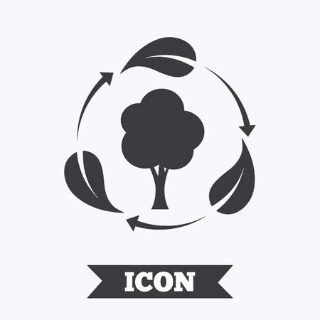 fresh air: Fresh air sign icon. Forest tree with leaves symbol. Graphic design element. Flat fresh air symbol on white background. Vector