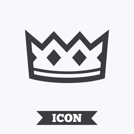 Crown Sign Icon King Hat Symbol Graphic Design Element Flat