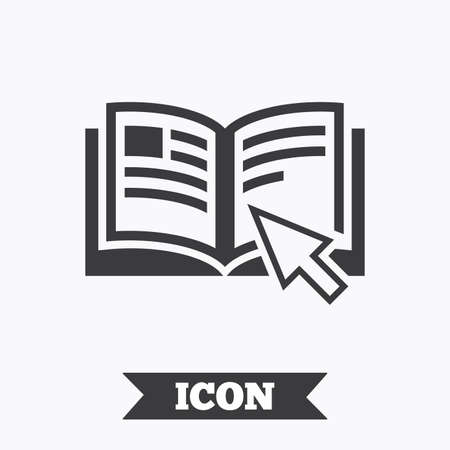 instruction manual: Instruction sign icon. Manual book symbol. Read before use. Graphic design element. Flat instructions symbol on white background. Vector Illustration