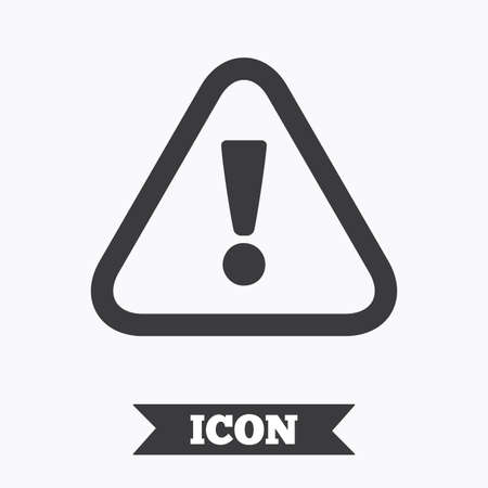 Attention sign icon. Exclamation mark. Hazard warning symbol. Graphic design element. Flat attention symbol on white background. Vector