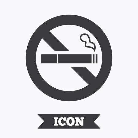 quit smoking: No Smoking sign icon. Quit smoking. Cigarette symbol. Graphic design element. Flat no smoking symbol on white background. Vector