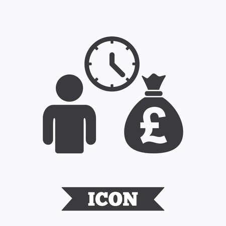 fast money: Bank loans sign icon. Get money fast symbol. Borrow money. Graphic design element. Flat bank loans symbol on white background. Vector Illustration