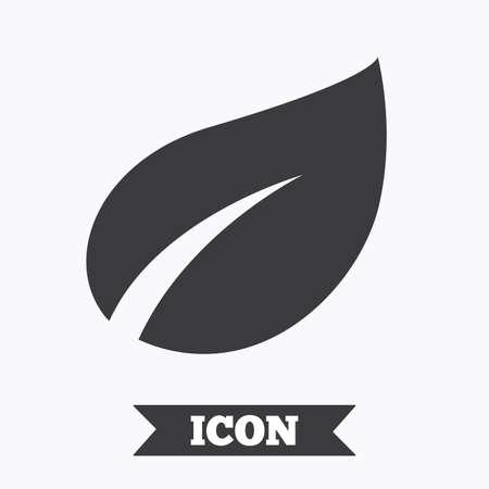 flat leaf: Leaf sign icon. Fresh natural product symbol. Graphic design element. Flat leaf symbol on white background. Vector