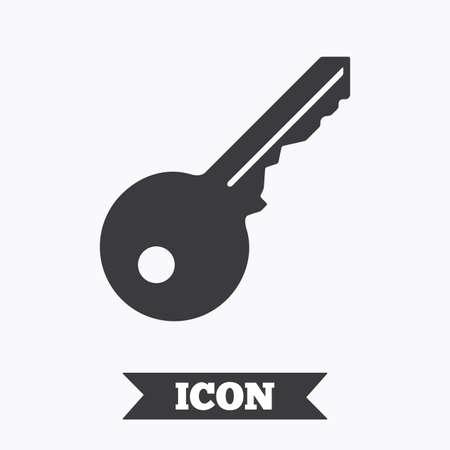 Sleutel pictogram teken. Unlock hulpmiddel symbool. Grafisch ontwerp element. Platte sleutel symbool op witte achtergrond. Vector Stock Illustratie