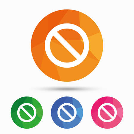 blacklist: Blacklist sign icon. User not allowed symbol. Triangular low poly button with flat icon. Vector