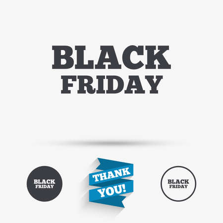 you are special: Black friday sign icon. Sale symbol. Special offer label. Flat icons. Buttons with icons. Thank you ribbon. Vector