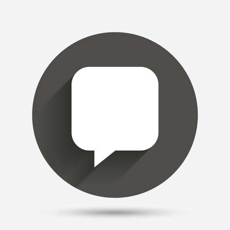 chat bubbles: Chat sign icon. Speech bubble symbol. Communication chat bubbles. Circle flat button with shadow. Vector Illustration