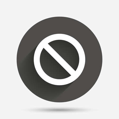 blacklist: Blacklist sign icon. User not allowed symbol. Circle flat button with shadow. Vector