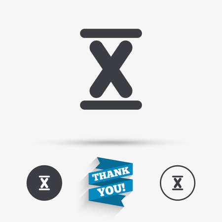 number ten: Roman numeral ten sign icon. Roman number ten symbol. Flat icons. Buttons with icons. Thank you ribbon. Vector