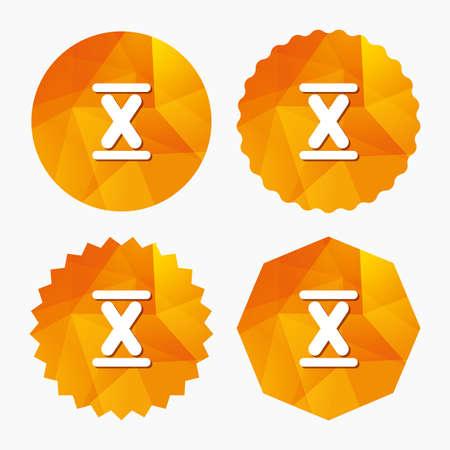 numero diez: Número romano icono de la muestra de diez. número romano diez símbolo. Triangulares botones de polietileno de baja con el icono plana. Vector Vectores