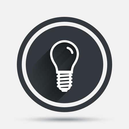 Glühbirnen-Symbol. Lampe E14 Schraubsockelsymbol. Geführtes Helles ...
