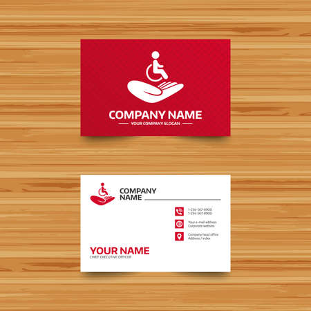 Business Card Template. Medical Insurance Sign Icon. Health ...
