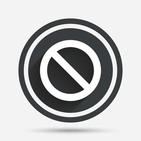 blacklist: Blacklist sign icon. User not allowed symbol. Circle flat button with shadow and border. Vector
