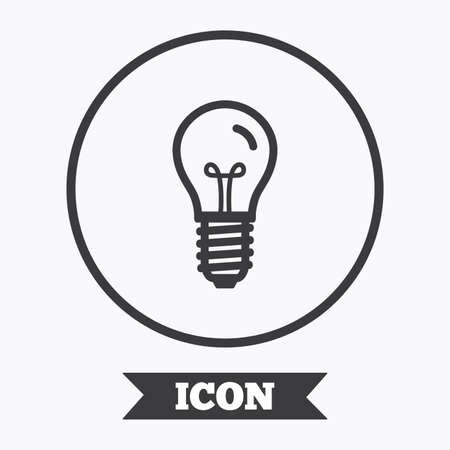 enchufe de luz: icono de la bombilla. Lámpara E14 tornillo símbolo socket. signo de la iluminación. elemento de diseño gráfico. Piso en símbolo botón círculo. Vector
