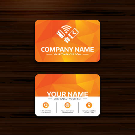 Business or visiting card template wireless mobile payments business or visiting card template wireless mobile payments icon smartphone credit card and fbccfo Images