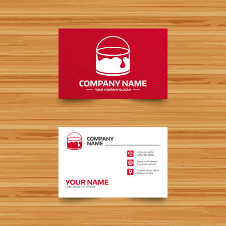 Business card template bucket of paint icon painting works business card template bucket of paint icon painting works sign painter equipment wajeb Image collections