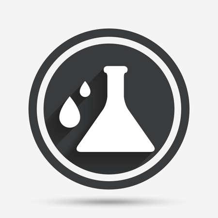 Chemie-Zeichen-Symbol. Lampensymbol Mit Tropfen. Lab-Symbol. Blau ...