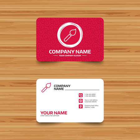 Business card template with texture paint brush sign icon artist business card template with texture paint brush sign icon artist symbol phone fbccfo Image collections