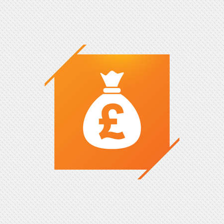 Pound Sign Icon Gbp Currency Symbol Money Label Orange Square